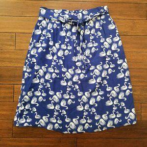ANTHRO PORRIDGE SWAN BIRD Skirt L GETAWAY Blue